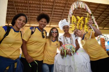Bem Receber: atletas dos JUBs são recepcionados no hotel com o melhor da cultura baiana