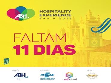Falta 11 dias para o Hospitality Experience