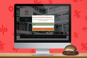 Incentive seu visitante com descontos exclusivos e aumente exponencialmente a conversão no site do hotel ou pousada