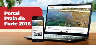 Praia do Forte na Bahia, conta agora com Novo Portal com Conteúdo Colaborativo